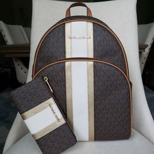 SOLD NWT Michael Kors Abbey Backpack and Wallet